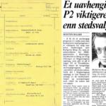 «Vel møtt» i NRK P2 2. februar 1983